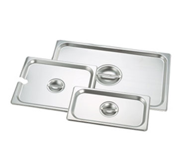 Crestware 5130S Steam Table Pan 1/3 Size Notched Cover