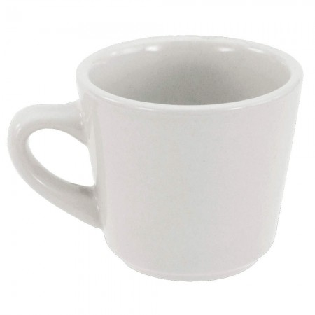 Crestware AL11 Alpine White Tall China Cup 7 oz. - 3 doz