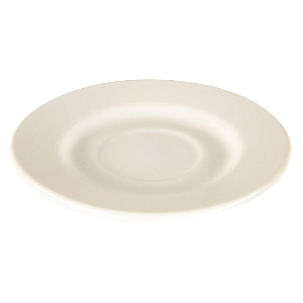 "Crestware ALR21 Alpine White Rolled Edge Saucer 6"" - 3 doz"