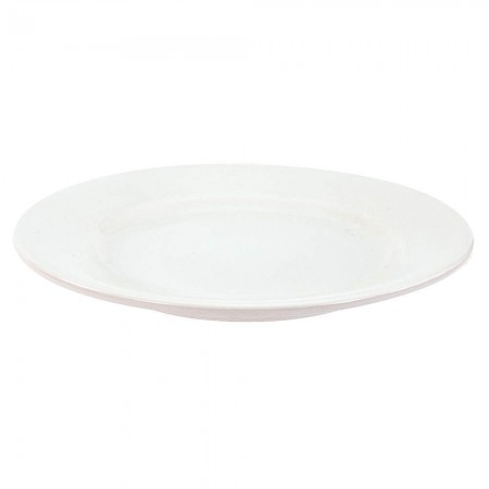 "Crestware ALR47 Alpine White Rolled Edge Plate 12"" - 1 doz"
