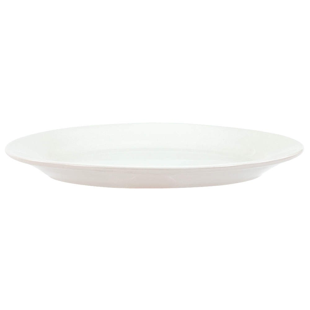"Crestware ALR51 Alpine White Rolled Edge Platter 9-1/2"" - 2 doz"