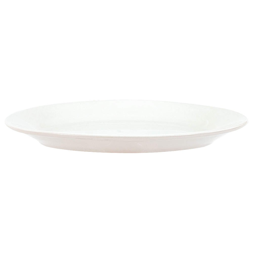 "Crestware ALR53 Alpine White Rolled Edge Platter 13-3/8"" - 1 doz"