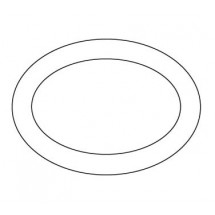Crestware ALR54 Alpine White Rolled Edge Platter 15-1/2""