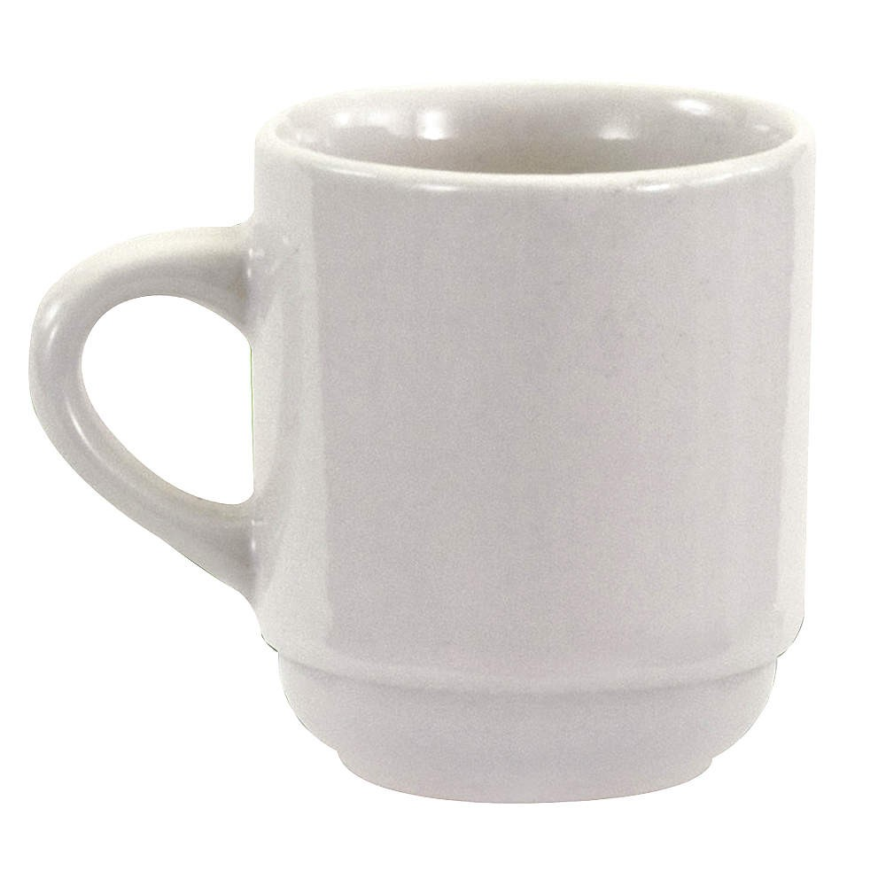 Crestware AL10 Alpine White China Cup 3.5 oz. - 3 doz