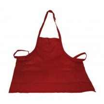 Crestware BABU Two-Pocket Bib Apron, Burgundy