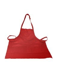 Crestware BAR Two-Pocket Bib Apron, Red