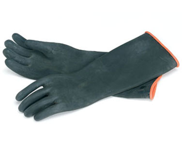 "Crestware BNG Rubber Industrial Gloves 18"" - 60 pairs"