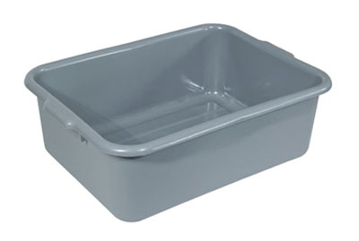 Crestware BT7GY Heavy-Weight Gray Bus Tub 7""
