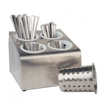 Crestware CFD4 4-Hole Counter Flatware Dispenser