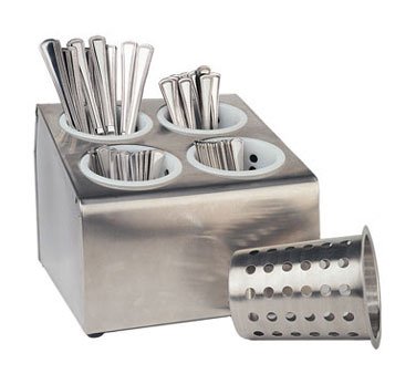 Crestware CFD4 4 Hole Flatware Dispenser
