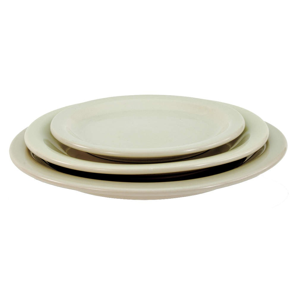 "Crestware CM43 7.25"" China Plate - 3 doz"
