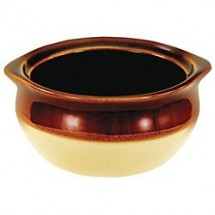 Crestware CM4OSC 3-Tone Onion Soup Crock 10 oz. - 3 doz