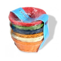 "Crestware CRB1 Colored Round Basket 8"" x 3"" - 1 set"
