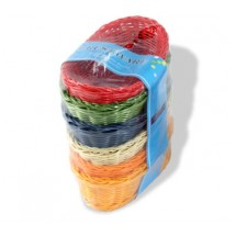 "Crestware CRB5 Colored Oval Basket 9"" x 6"" x 3"" - 1 set"