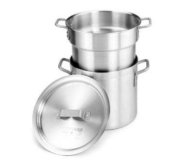 Crestware DBL16 Heavy Weight Aluminum Double Boiler Stock Pot 16 Qt.