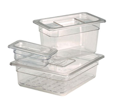 Crestware FP16 Full Size Polycarbonate Food Pan 6""