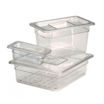 Crestware FP64 Sixth Size Polycarbonate Food Pan 4""