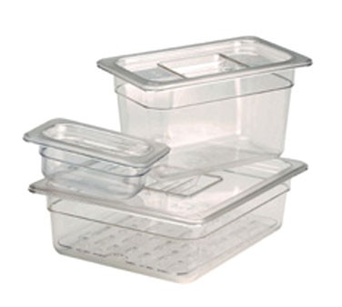 Crestware FPC6 Sixth Size Polycarbonate Solid Food Pan Cover