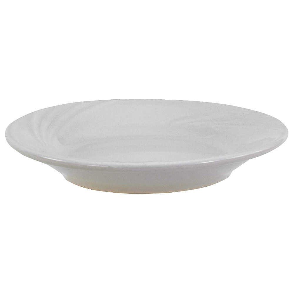 "Crestware FR43 Firenze Bright White Plate 7-1/4"" - 3 doz"