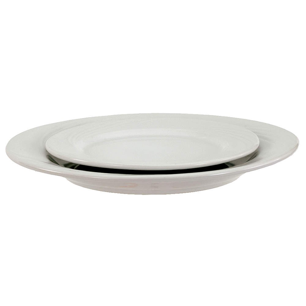 "Crestware FR48 Firenze Bright White Plate 11-1/4"" - 1 doz"