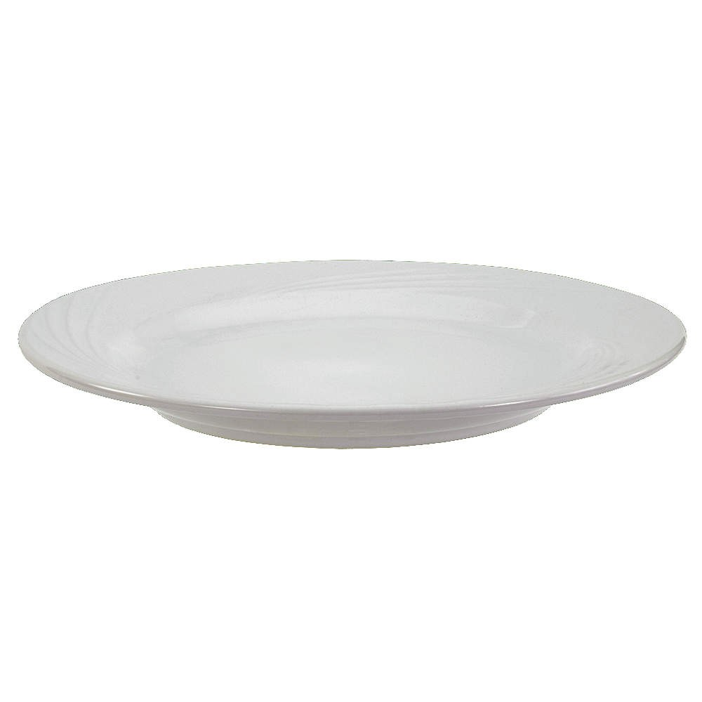"Crestware FR49 12"" China Plate - 1 doz"