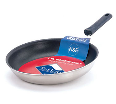 Crestware FRY08XIH Non-Stick Induction Fry Pan 8-1/2""