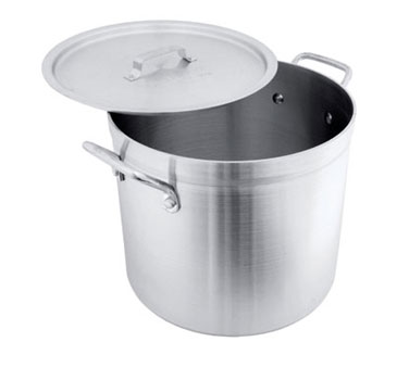 Crestware HPOT20 Extra Heavy Weight Aluminum Stock Pot 20 Qt.