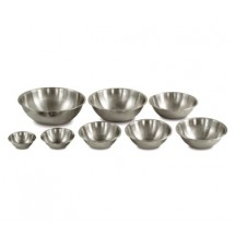 Crestware MBP04 Professional Stainless Steel Mixing Bowl 4 Qt.