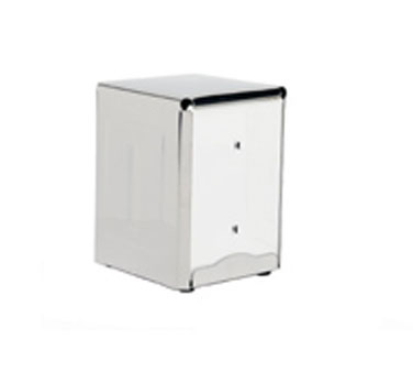 Crestware ND2 1/2 Size Stainless Steel Napkin Dispenser
