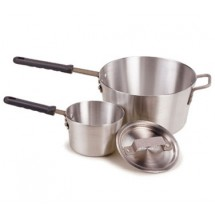 Crestware PAN10H Aluminum Sauce Pan with Cool Grip Handle 10 Qt.