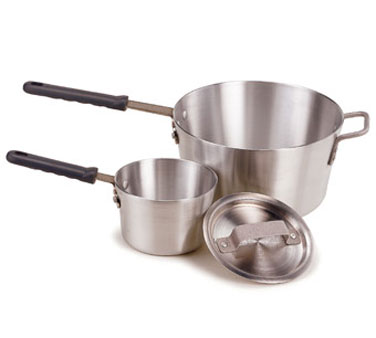 Crestware PAN7H Aluminum Sauce Pan with Cool Grip Handle 7 Qt.