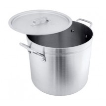 Crestware POT16 Aluminum Stock Pot 16 Qt.