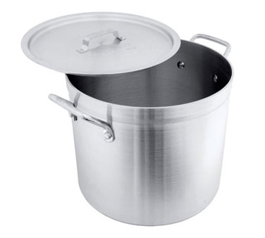 Crestware POT24 Aluminum Stock Pot 24 Qt.