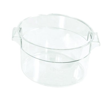 Crestware RCC1 Clear Round Food Storage Container 1 Qt.