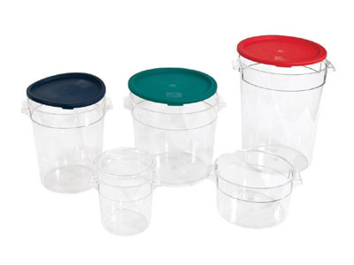 Crestware RCC2 Clear Round 2 Qt. Food Storage Container
