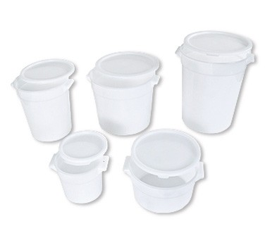 Crestware RCW2 White Round Food Storage Container 2 Qt.