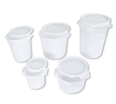Crestware RCW4 White Round Food Storage Container 4 Qt.