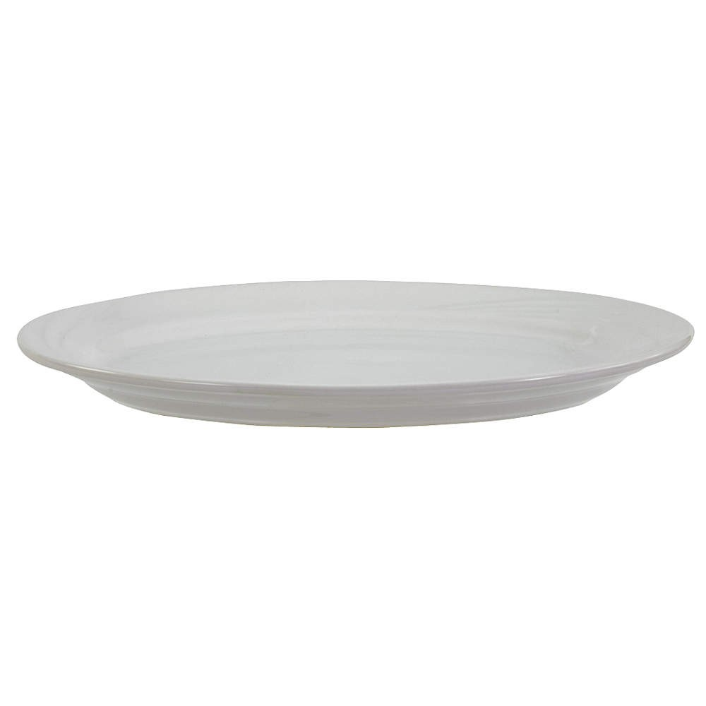 "Crestware RE54 Dover White Rolled Edge Platter 8-3/8"" - 3 doz"