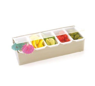 Crestware SCD6 6 Compartment Condiment Dispenser