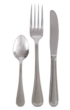 Crestware SIM807 Heavy Weight European Salad Fork with Mirror Finish - 1 doz