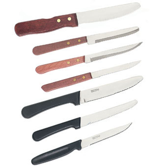 Crestware SKRW2 Round Tipped Steak Knife with Wood Handle