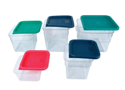 Crestware SQC12 Clear Square Food Storage Container 12 Qt.
