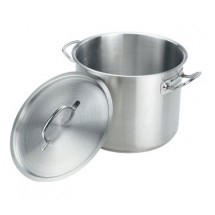 Crestware SSPOT24 Induction Stock Pot with Cover 24 Qt.