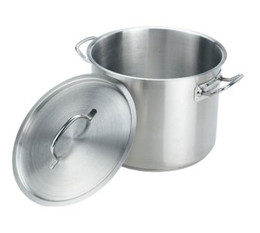 Crestware SSPOT35 Induction Stock Pot with Cover 35 Qt.