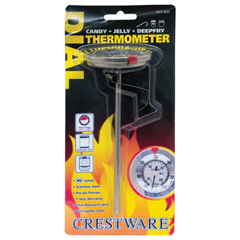 Crestware TRMDCF400 Dial Deep Fry / Candy Thermometer