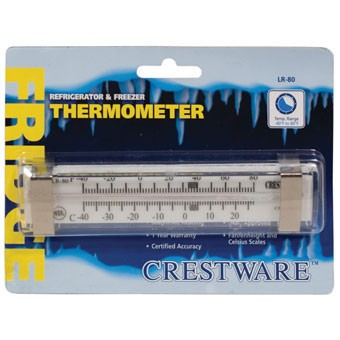 Crestware TRMLR80 Liquid Scale Thermometer