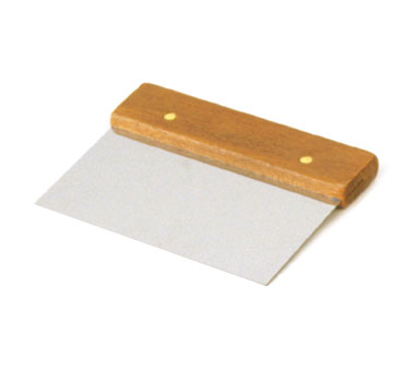 Crestware WHDS63 Dough Scraper with Wood Handle