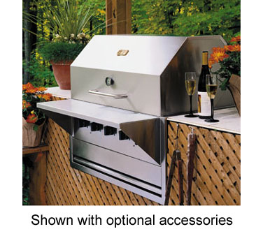 Crown Verity BI-48LP Built-In Outdoor Charbroiler 6 Burners
