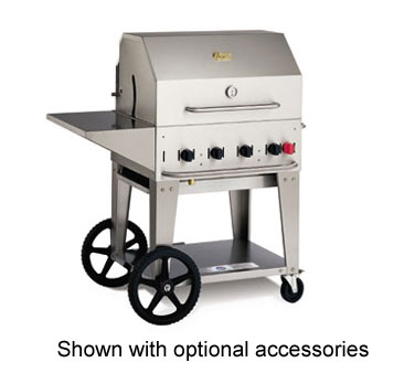 Crown Verity MCB-30NG Mobile Outdoor Charbroiler 4 Burners