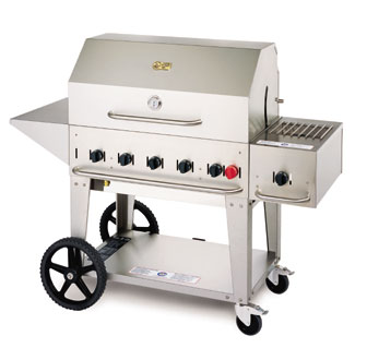 Crown Verity MCB-36LP Mobile Outdoor Charbroiler 5 Burners